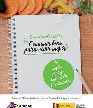 ADICAE lanza un concurso de  recetas sostenibles